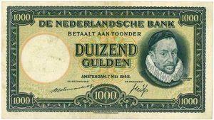 1000 gulden 1945 Willem de Zwijger - Veilinghuis De Ruiter