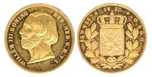 20 gulden negotiepenning 1850 - Veilinghuis De Ruiter