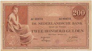 200 gulden 1921 Grietje Seel - Veilinghuis De Ruiter