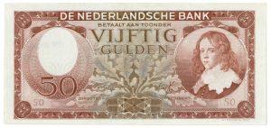 Vijftig gulden 1945 - c Veilinghuis De Ruiter