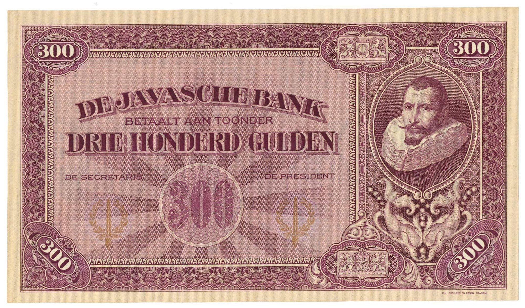 300 gulden 1925 Nederlands-Indië