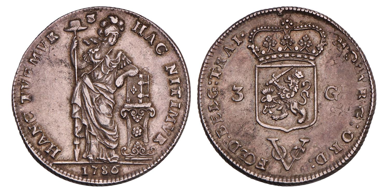 3 Gulden V.O.C. Utrecht 1786